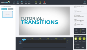 Adding Transition Effects tutorial