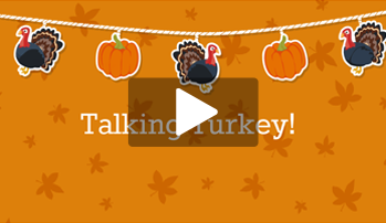 2016 Thanksgiving Infographic, Animated Template