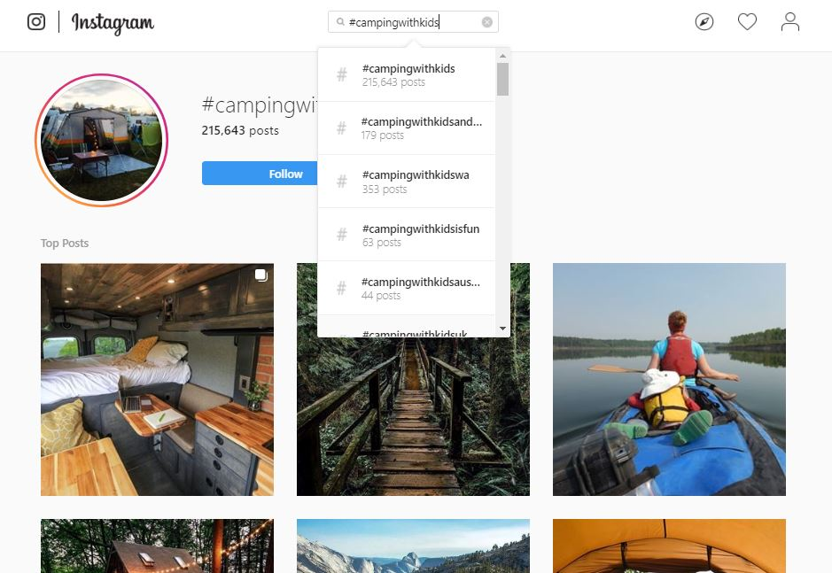 instagram influencers can be found by looking up hashtags