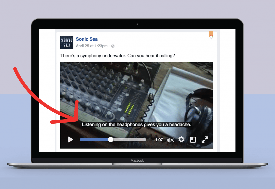 Adding subtitles to facebook videos will increase conversions and boost engagement