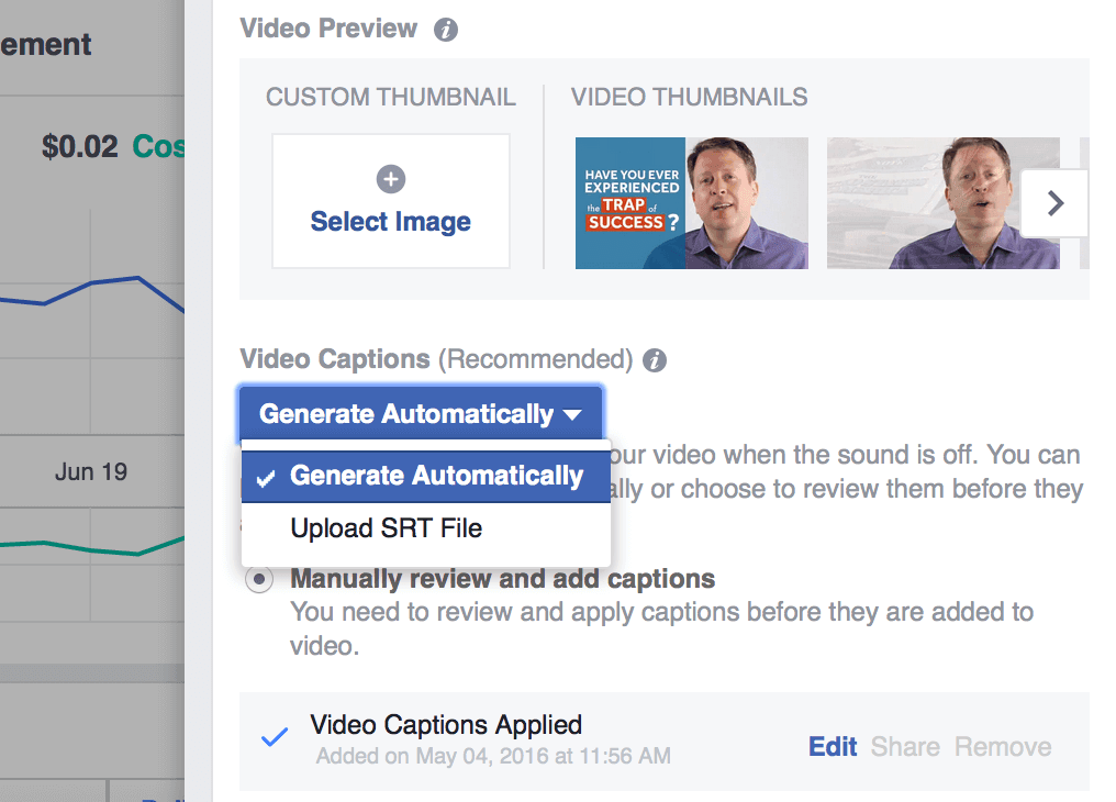 it is important to captions to your facebook ads because they're muted by default