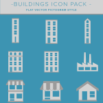 building and real estate icon pack