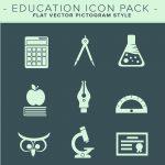 Eductation Flat Icon Pack