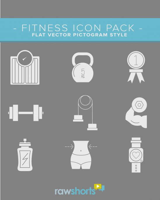 fitness_flat_vector_icon_pack