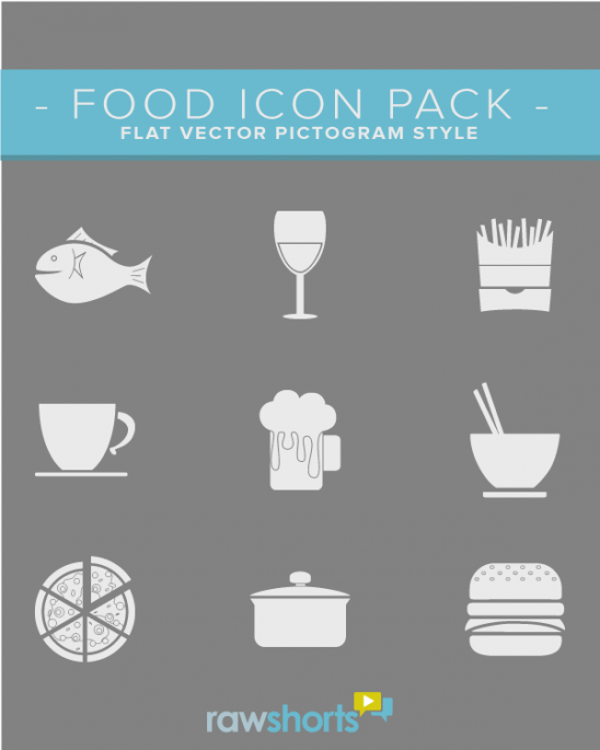 food_flat_vector_icon_pack
