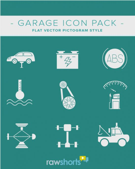 Auto Garage and Mechanic Free Downloadable Icon Pack