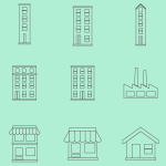 Buildings Line Icons - Vector Pack