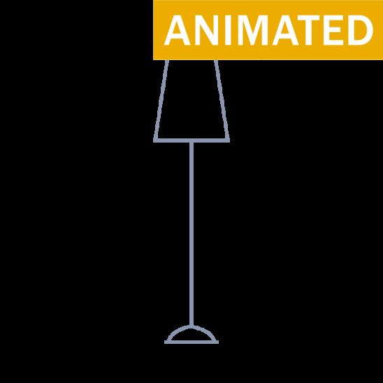 Black Lamp Icon