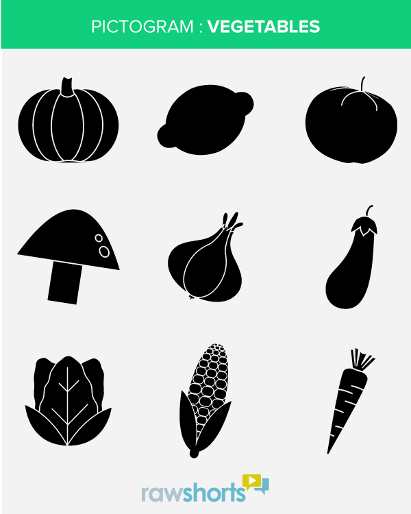 Vegetable Pictograms - Free Vector Icon Set - Free Icons