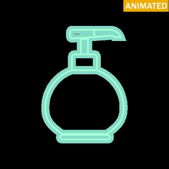 Black Soap Dispenser Icon