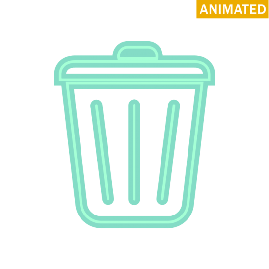 Svg Double Green Office Line Garbage