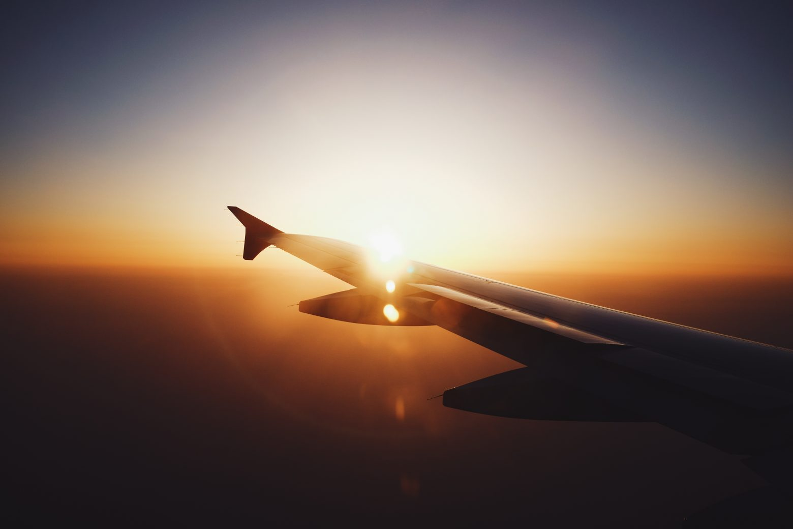 Airplane Wing in the Sun – Free Stock Photos