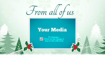 Holiday greetings video card template 01